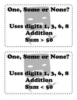 Addition & Subtraction 2 x 2 digit problem solving