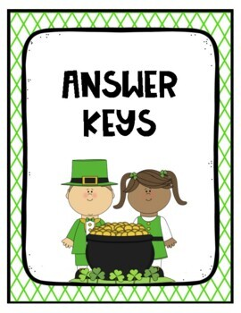 Addition & Subtraction (3 digit with NO regrouping) - St. Patrick's Day Theme