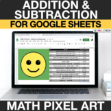 Addition & Subtraction 4th Grade Digital Math Pixel Art -