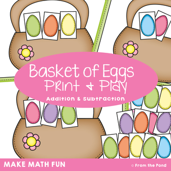 Addition & Subtraction Activity {Basket of Eggs}