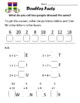 Addition/Subtraction, Adding Ten More, and Doubles Facts Word Puzzle Worksheets