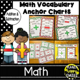 Addition & Subtraction Vocabulary Anchor Charts