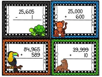 Addition & Subtraction Animal Flashcards
