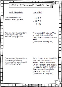Addition & Subtraction Assessment - Pre / Post Test (with anecdotal checklist)