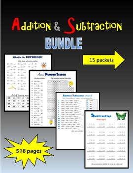 Addition & Subtraction BUNDLE
