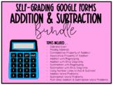 Addition & Subtraction BUNDLE (Self-Grading Google Forms)