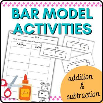 Addition Subtraction Bar Models:  Common Core Story Proble