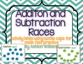 Addition/ Subtraction Bottle Cap Racing Mats