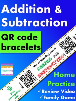 Addition & Subtraction Homework {Bracelet with review vide