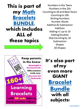 Addition & Subtraction Homework {Bracelet with review video & family game}