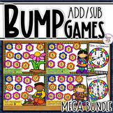 Spring Addition & Subtraction Bump Games Bundle