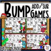Christmas Addition & Subtraction Bump Games Bundle