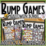 Halloween Addition & Subtraction Bump Games Bundle