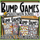 Halloween Addition & Subtraction Bump Games Bundle