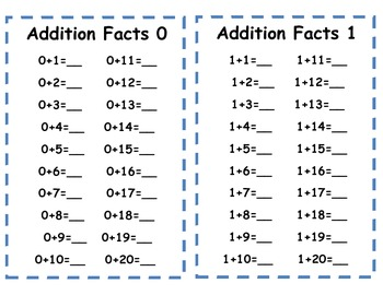 Addition & Subtraction activity