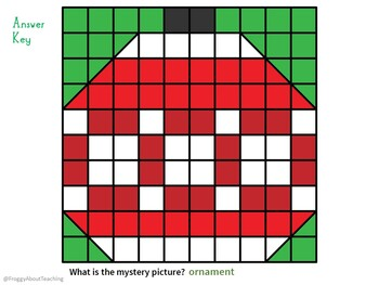 Addition/Subtraction Christmas Mystery Picture