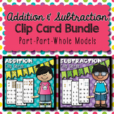 Addition & Subtraction Clip Card Bundle