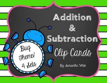Addition & Subtraction Clip Cards