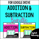 Addition & Subtraction Common Core 3rd Grade for Google Classroom Digital BUNDLE