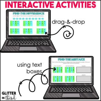 Addition & Subtraction Common Core 3rd Grade for Google Classroom Digital BUNDLE