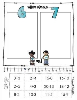 Addition & Subtraction Compare, Cut & Sort Freebie!