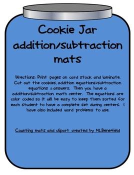 Addition & Subtraction Cookie Jar Center
