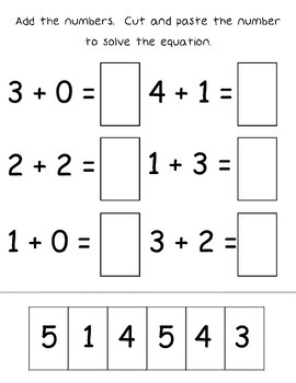 Addition & Subtraction Cut and paste Math Bundle