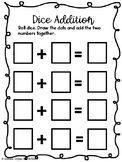 Addition & Subtraction Dice Center