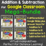 Addition & Subtraction Distance Learning for Google Classr