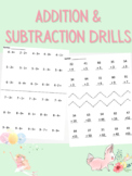 Addition & Subtraction Drills WITHOUT Regrouping/Borrowing