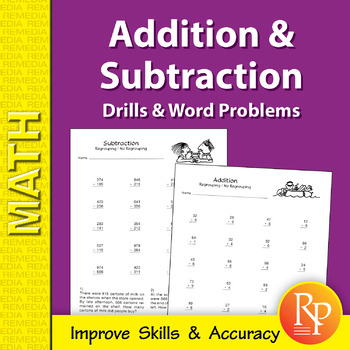 Addition & Subtraction: Drills & Word Problems Practice