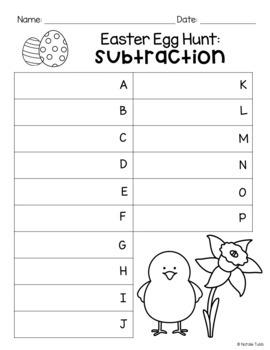 Addition & Subtraction Easter Egg Hunt