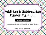 Addition & Subtraction Easter Egg Hunt (English)