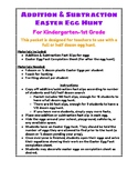 Addition & Subtraction Easter Egg Hunt Kit