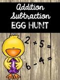 Addition Subtraction Egg Hunt