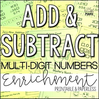 Addition & Subtraction Enrichment: Add & Subtract Logic Puzzles