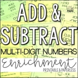 Add & Subtract Whole Numbers Enrichment