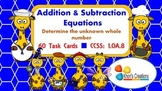Addition & Subtraction Equations Task Cards (1.OA.8)