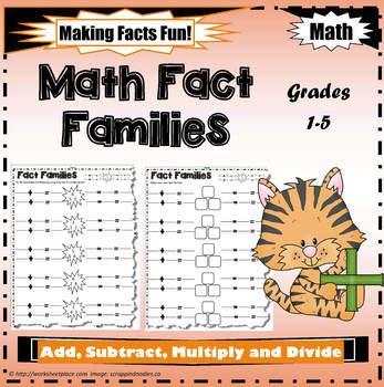 Add, Subtract, Multiply and Divide Fact Families