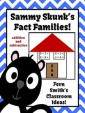 Addition and Subtraction Fact Families Center Game and Interactive Notebooks