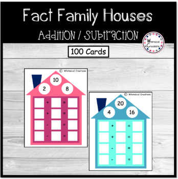 Addition/Subtraction Fact Family Houses