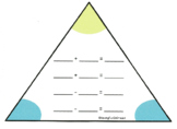 Addition/Subtraction Fact Family Triangle