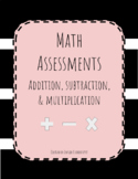 Addition, Subtraction, Fact Family and Multiplication Math
