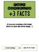 Addition & Subtraction Fact File Folders/Memory BUNDLE