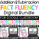 Digital Addition and Subtraction Fact Fluency Flashcards for Google Classroom™