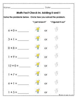 Addition & Subtraction Fact Fluency Assessments