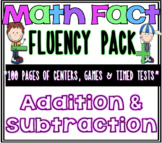 Addition & Subtraction Fact Fluency MEGA Pack! Common Core Aligned