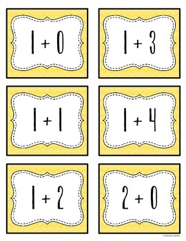 Addition & Subtraction Fact Fluency Matching Cards