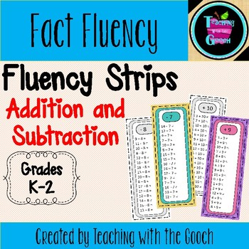 Addition/Subtraction Fact Practice- Fluency Strips
