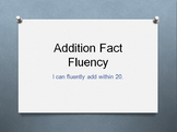 Addition & Subtraction Fact Fluency within 20 Timed PowerPoints